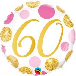 "18"" 60 Pink & Gold Dots"