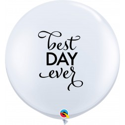 3Ft Simply Best Day Ever White  (02 ct.)