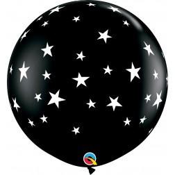 3Ft Contempo Stars-A-Rnd Onyx Black  (02 ct.)
