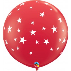 3Ft Contempo Stars-A-Rnd Red  (02 ct.)