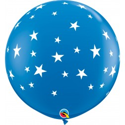 3Ft Contempo Stars-A-Rnd Dark Blue  (02 ct.)