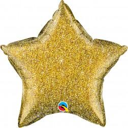 """20"""" Glittergraphic Gold Star"""