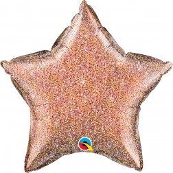 "20"" Glittergraphic Rose Gold Star"