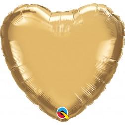 "18"" Chrome Gold Heart"