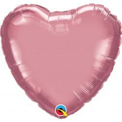 "18"" Chrome Mauve Heart"
