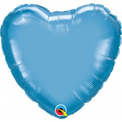 "18"" Chrome Blue Heart"