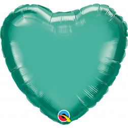 "18"" Chrome Green Heart"