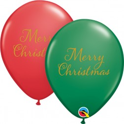 """11"""" Simply Merry Christmas Green&Red (50 ct.)"""