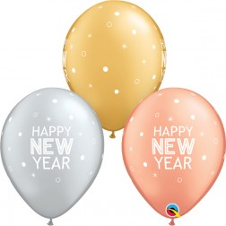 """11"""" New Year Sparkles & Dots Special Ast (50 ct.)"""