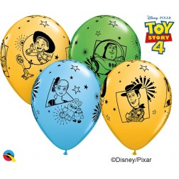 "11"" Disney Pixar Toy Story 4 Asst. Pale Blue, Spring Green, Goldenrod (25 ct.)"