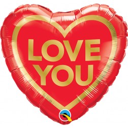 """18"""" Love You Golden Heart"""