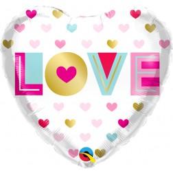 "18"" Love Metallic Hearts"