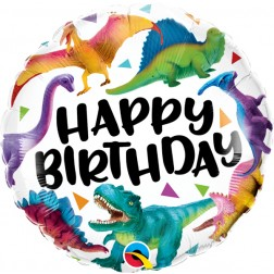 """18"""" Bday Colorful Dinosaurs"""