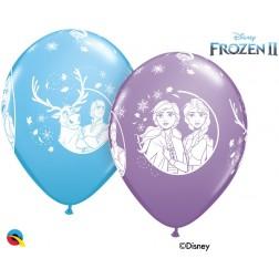 """11"""" Disney Frozen 2 Asst. Pale Blue, Spring Lilac (25 ct.)"""