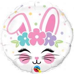 "18"" Bunny Face (pkgd)"