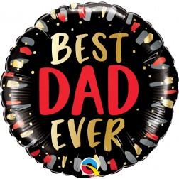 """18"""" Best Dad Ever (pkgd)"""
