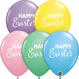 """11"""" Simply Happy Easter Pastel Asst. (50ct)"""