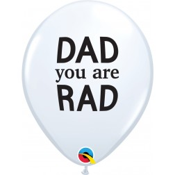 """11"""" Simply Dad You Are Rad White (50 ct.)"""