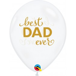 """11"""" Simply Best Dad Ever Diamond Clear (50 ct.)"""