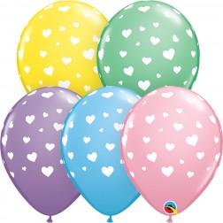 """11"""" Random Hearts-A-Round Pastel Asst. (50 ct.)"""