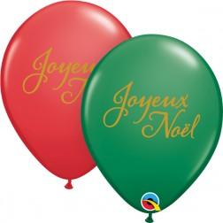 """11"""" Simplement Joyeux Noel Green&Red (50 ct.)"""
