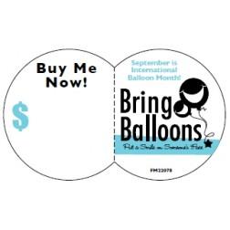 Accessories: Bring Balloons Sticker (100 ct.)