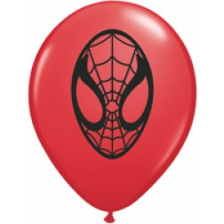 """05"""" Spider-Man Face Red 100Ct"""