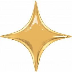 "20"" Starpoint Metallic Gold Special Shape St"