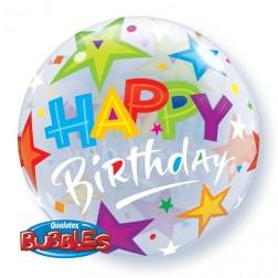 """Bubble 22"""" Birthday Brilliant Stars"""