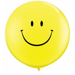 3ft Smile Face (Blk) Yellow 02Ct