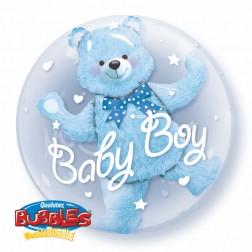"Double Bubble 24"" Baby Blue Bear"