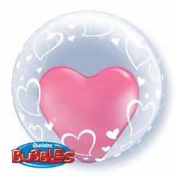 "Deco Bubble 24"" Stylish Hearts"