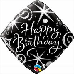 """18"""" Birthday Elegant Sparkles & Swirls Diamond"""