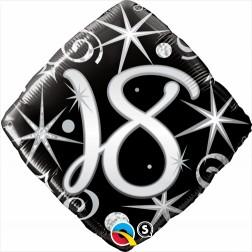 "18"" 18 Elegant Sparkles & Swirls Diamond"