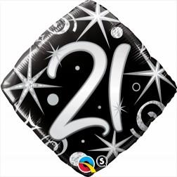 "18"" 21 Elegant Sparkles & Swirls Diamond"