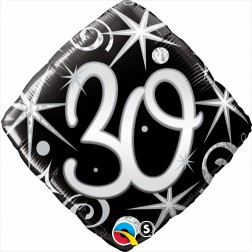 "18"" 30 Elegant Sparkles & Swirls Diamond"