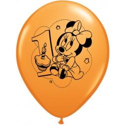 "12"" Minnie 1st Birthday (6ct.)"
