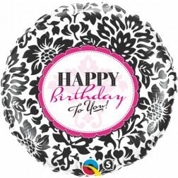 """18"""" Birthday Elegant Damask"""