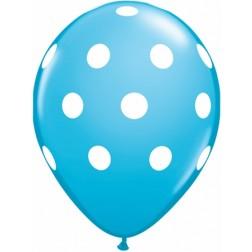"11"" Big Polka Dots Robin's Egg 50Ct"