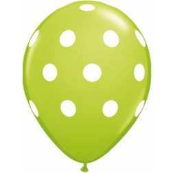 "11"" Big Polka Dots Lime Green 50Ct"