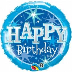 "18"" Birthday Blue Sparkle"