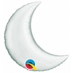 """09"""" Silver Plain Foil Crescent Moon St"""
