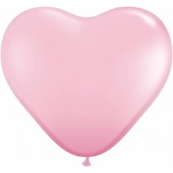 """06"""" Pink Heart 100Ct"""