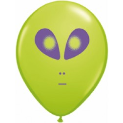 """05"""" Space Alien Lime Green 100Ct"""