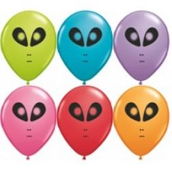 """05"""" Space Alien Festive Assortment 100Ct"""