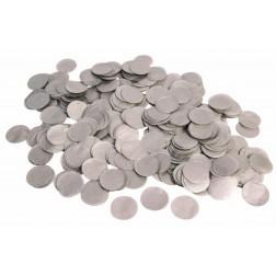 0.8oz Paper Confetti Dots Silver